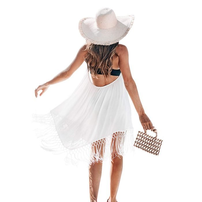 Cupshe Backless Cover Up With Tassels