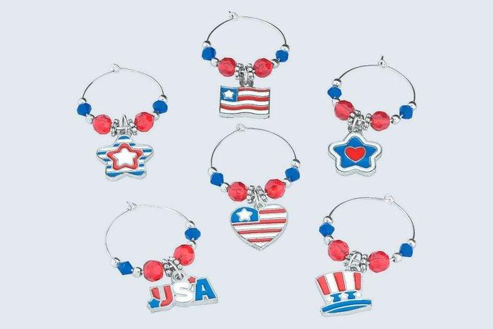 Diy Patriotic Usa Wine Glass Charms Craft Kit