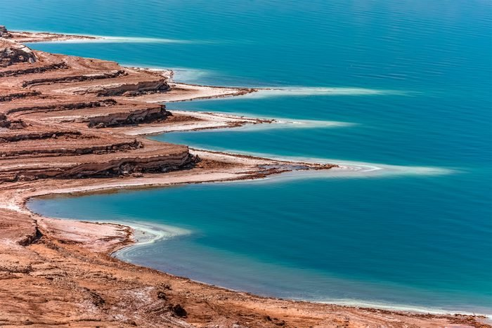 Aerial view from Dead Sea in Israel