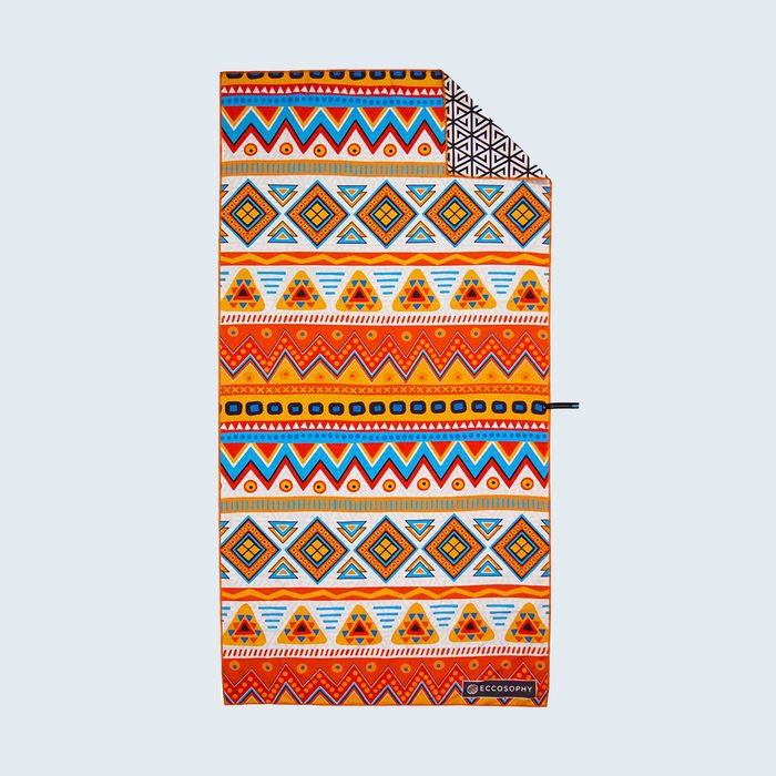 colorful patterned beach towel
