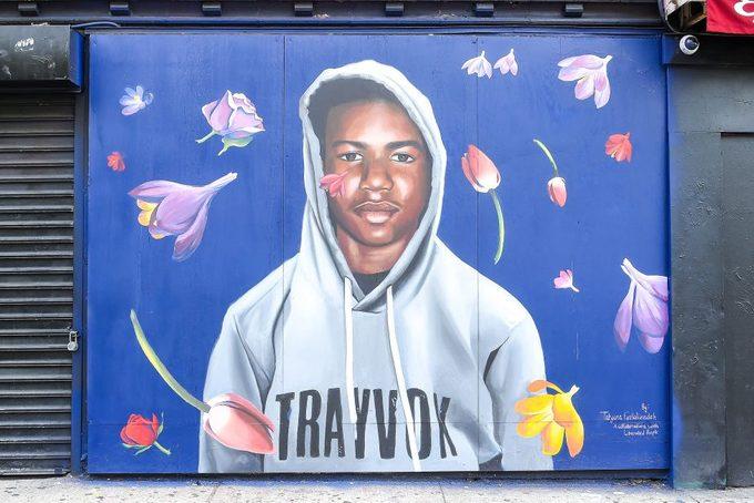 Trayvon Martin Mural in New York City