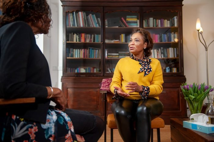 Mature woman visiting a senior counselor