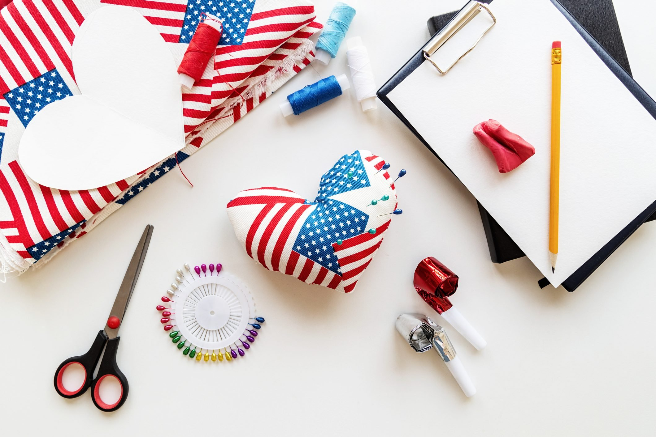 4th Of July Usa Independance Day Pin Cusion Craft
