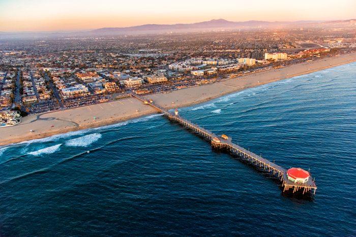 Huntington Beach California Aerial