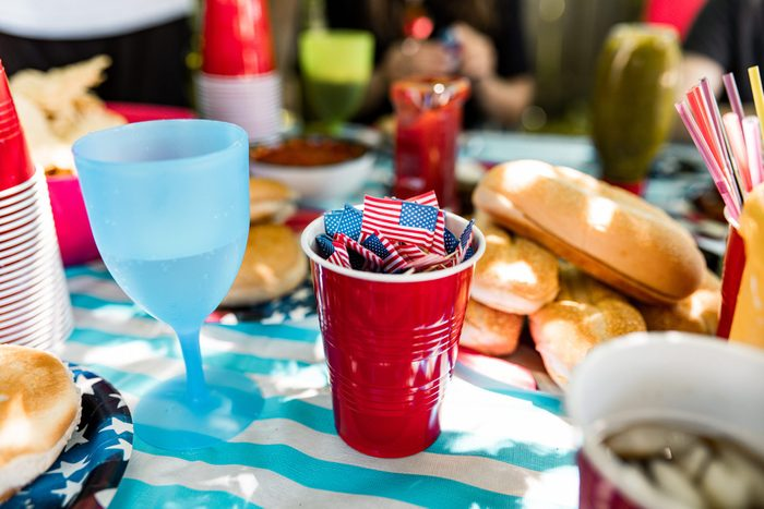 4th of July BBQ table set up