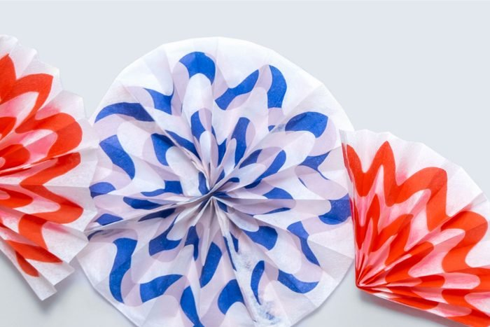 paper fireworks made from tissue paper