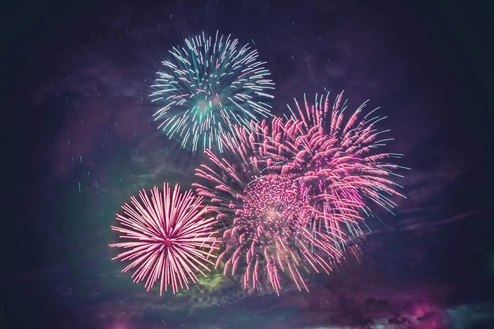 Firework explosion.