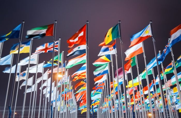 national flags from all over the world