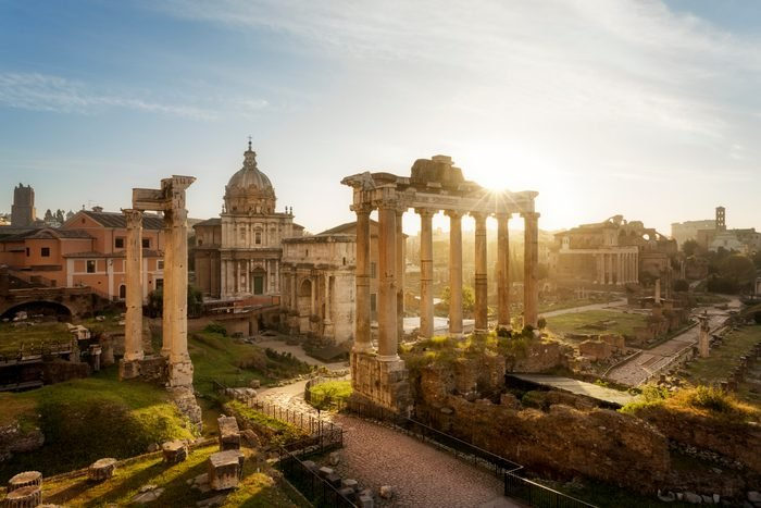 Sunrise on Roman Forum