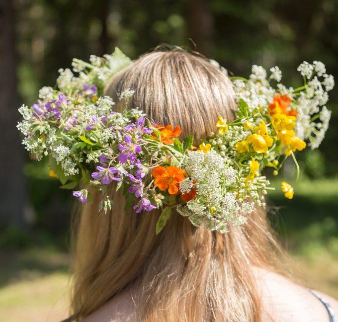 Swedish Midsummer Headgear Traditional floral wreath