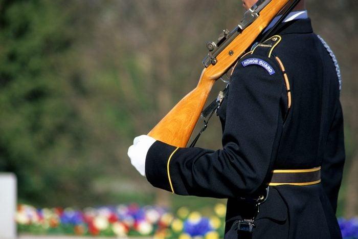 Honor Guard Holding Rifle, Arlington National Ceme