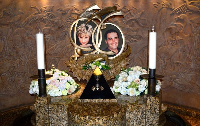shrine to Princess Diana and Dodi Fayed is an attraction at Harrods department store in London, England.