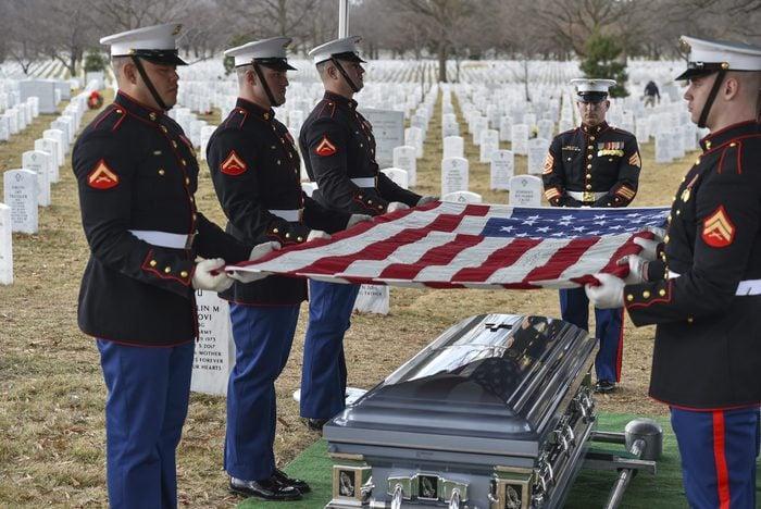 ARLINGTON, VA - JANUARY 23: Members of the Marine Corps Body Be