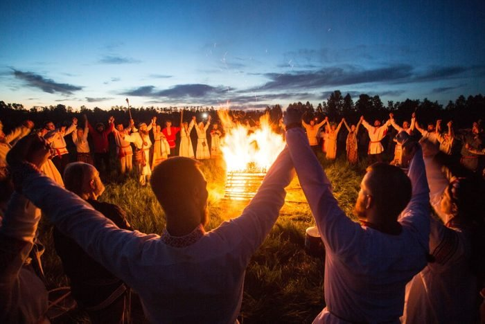 Summer solstice celebration in Siberia