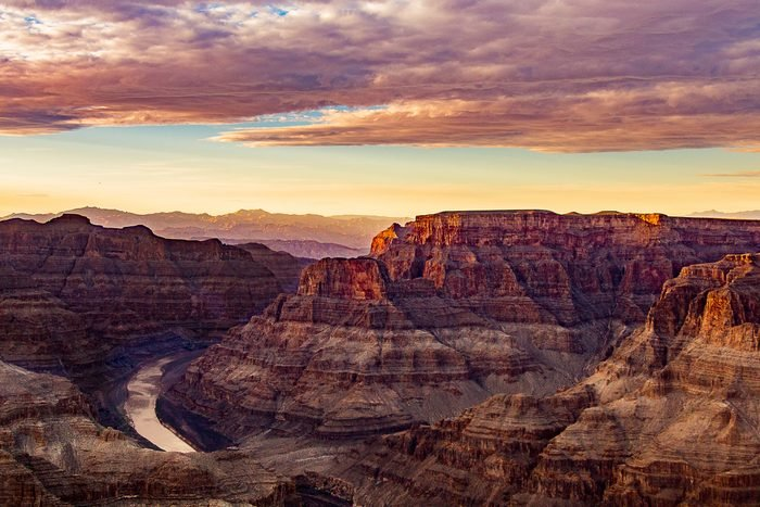 Rock Formations At Sunset in the Grand Canyon