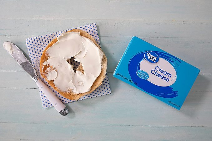 Great Value Cream Cheese On Bagel And In Package