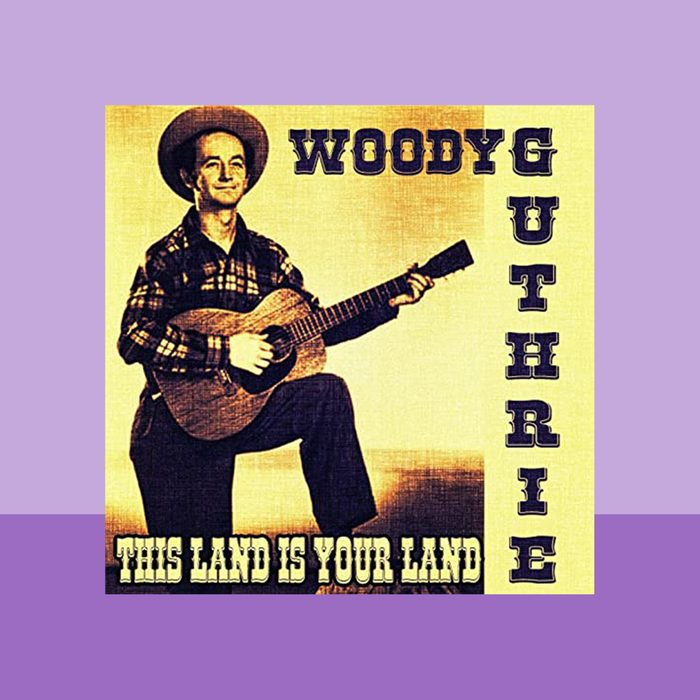"""""""This Land Is Your Land"""" by Woody Guthrie album cover art"""