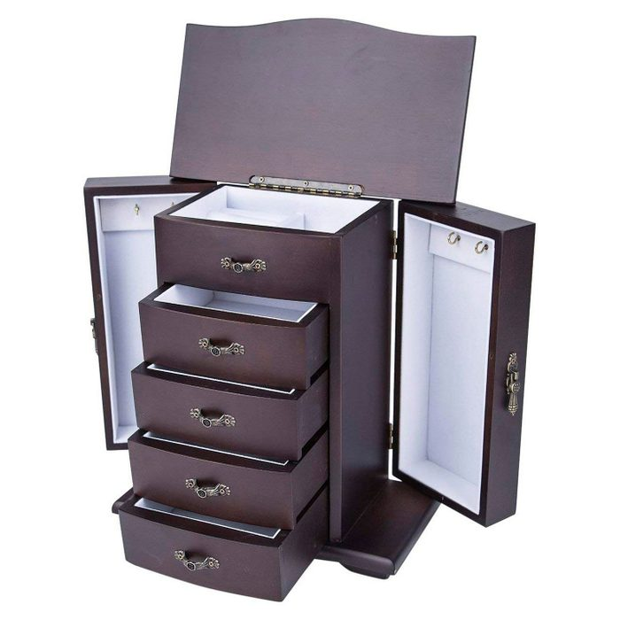 Homeit Wooden Jewelry Box Organizer