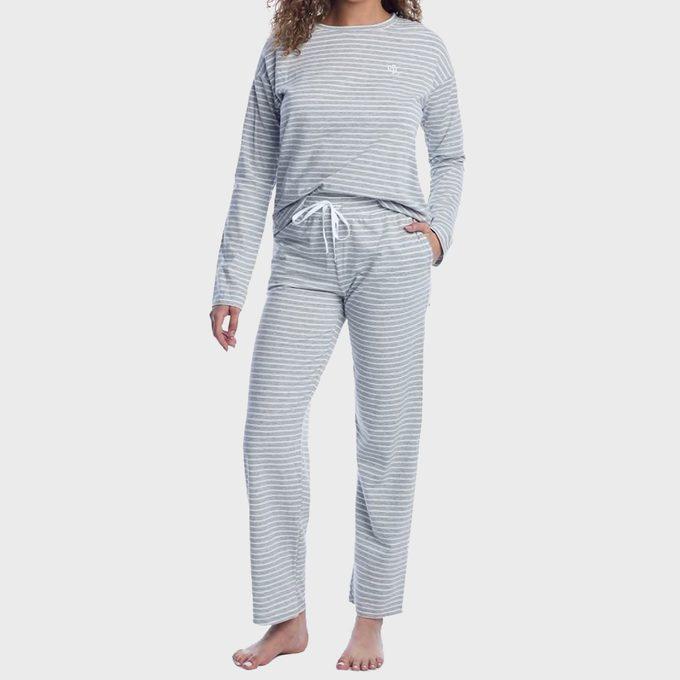 Lauren Ralph Lauren Striped Knit Pajama Set Bare Necessities