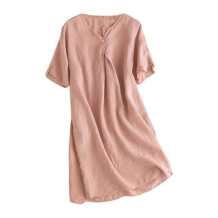 Mordenmiss Linen Tunic Dress