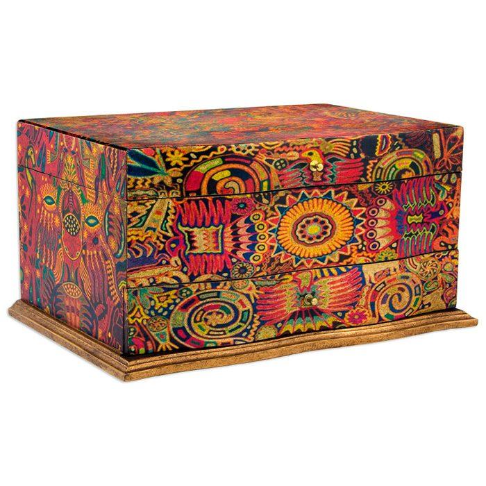 Novica Decorative Wood Decoupage Jewelry Box