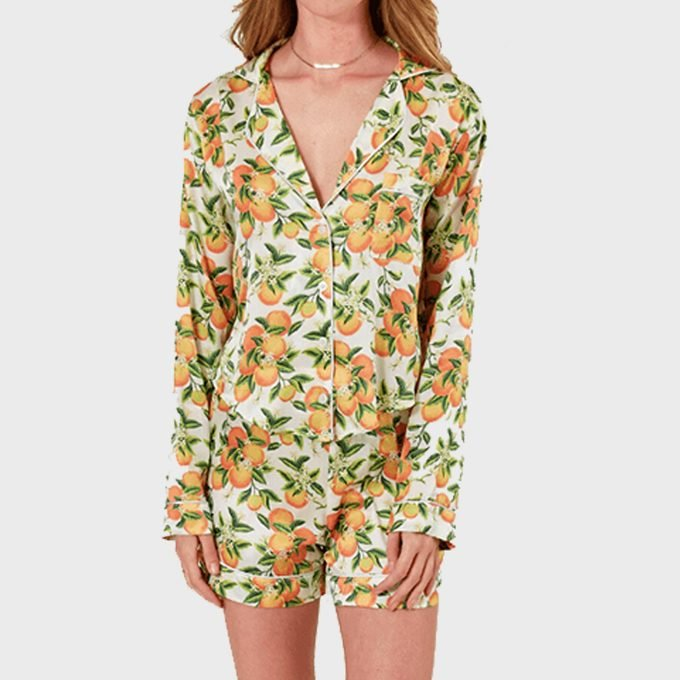Nina Silk Pajama Short Set From Lezat