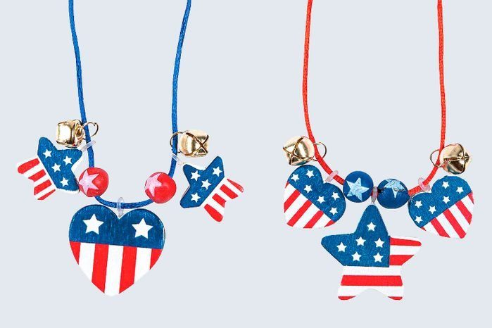 Patriotic Wood Necklace Craft Kit For Fourth Of July