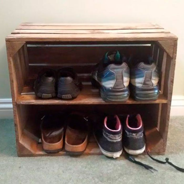 Shabby Chic Wooden Shoe Rack