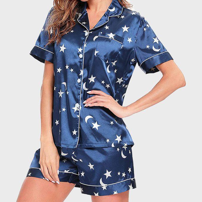 Swomog Silk Satin Pajamas
