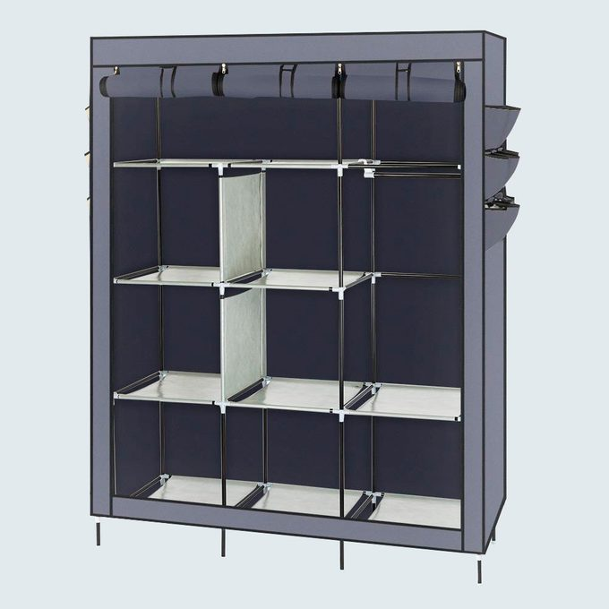 Salonmore 69 Inch Closet Storage Clothes Wardrobe Rack With Shelves