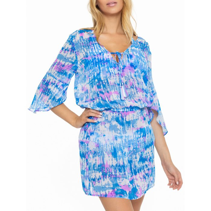 BCA by Rebecca Virtue Chiffon Tie-Dye Cover-Up