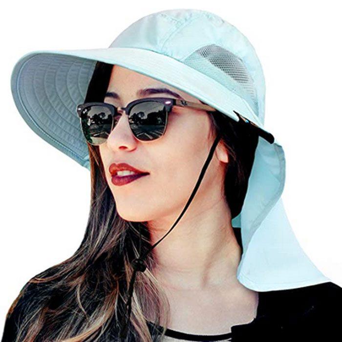 Sun Cube Wide Brim Sun Hat With Neck Flap