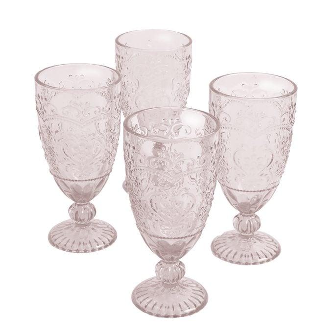 The Pioneer Woman Amelia 14.7 Ounce Rose Tea Goblets