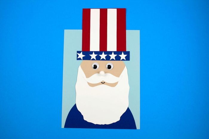 Uncle Sam Head 4th Of July Craft