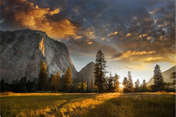 The Sierra Nevada at sunrise in Yosemite National Park in California