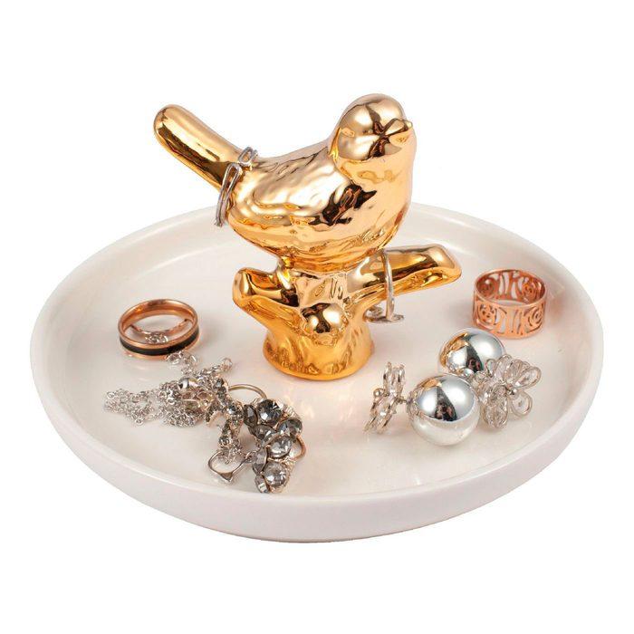 Zodaca Gold Ceramic Ring Holder