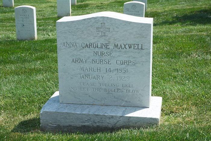 Anna Caroline Maxwell's Grave In Arlington
