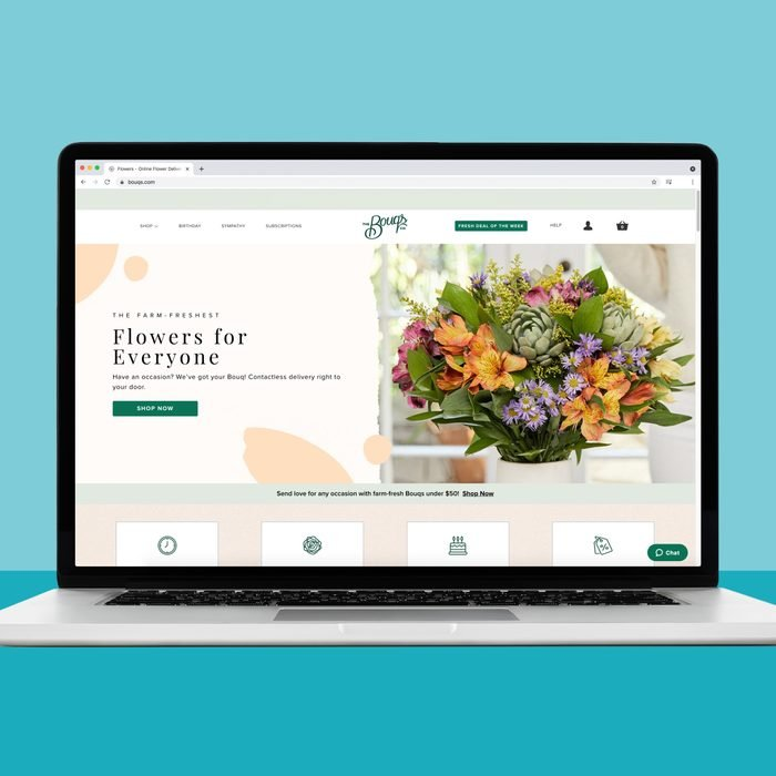 buying flowers online from The Bouqs Co.