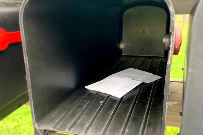Dryer Sheet In Mailbox