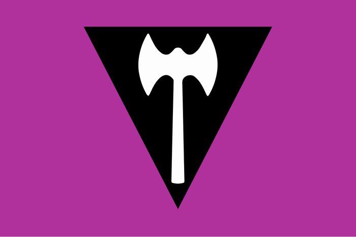 Labrys Lesbian Pride Flag