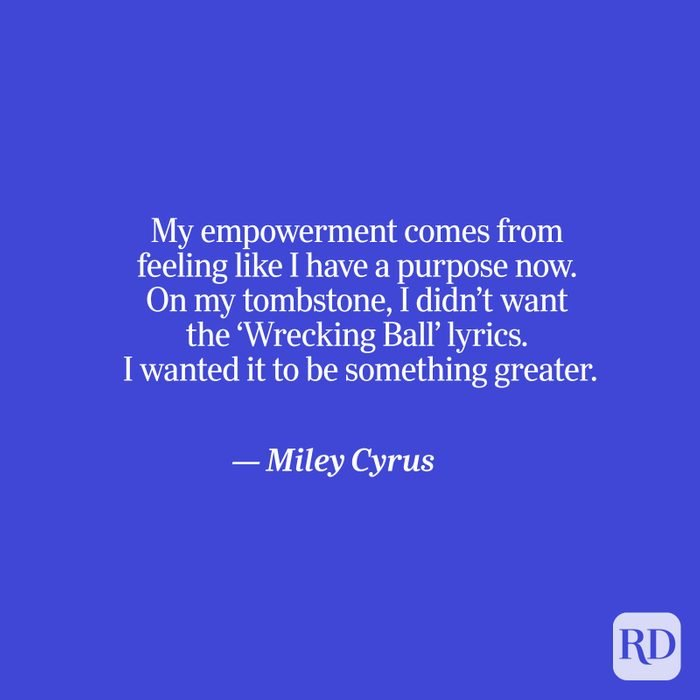 Cyrus quote on blue