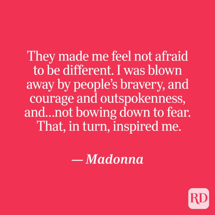 Madonna quote on red