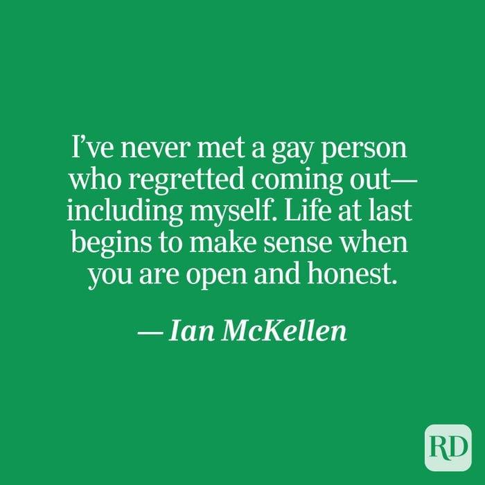 McKellen quote on green