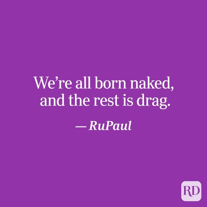 RuPaul quote on purple