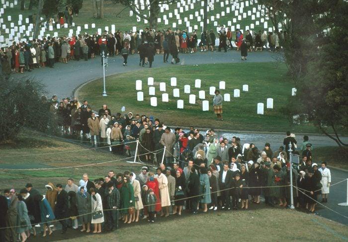 Mourners At JFK's Gravesite