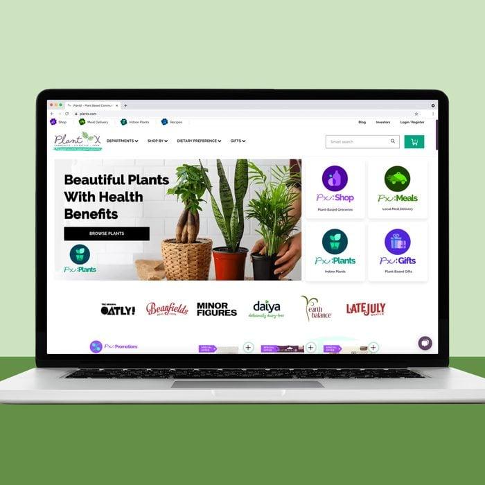 Plantx website for house plants