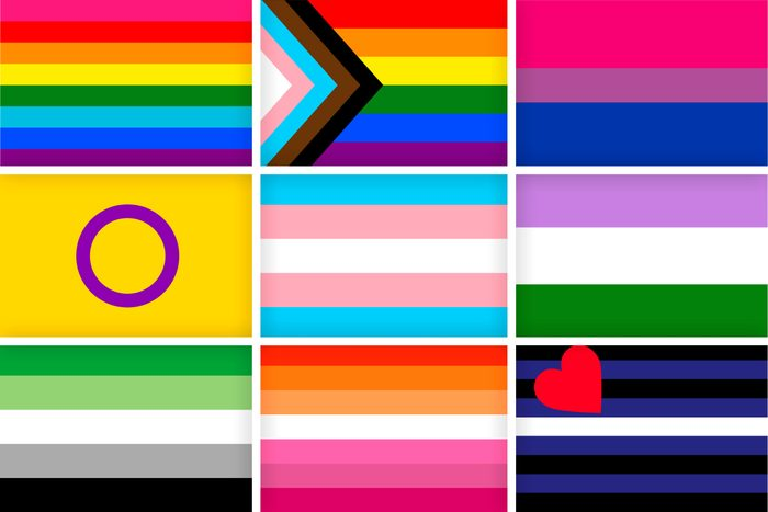 Collage of 9 Pride Flags