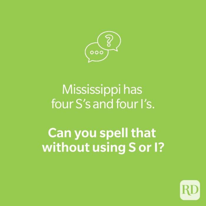 Mississippi riddle on green