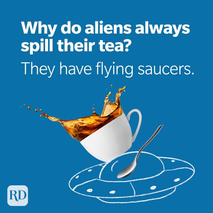 Space Puns Flying Saucers Spill The Tea