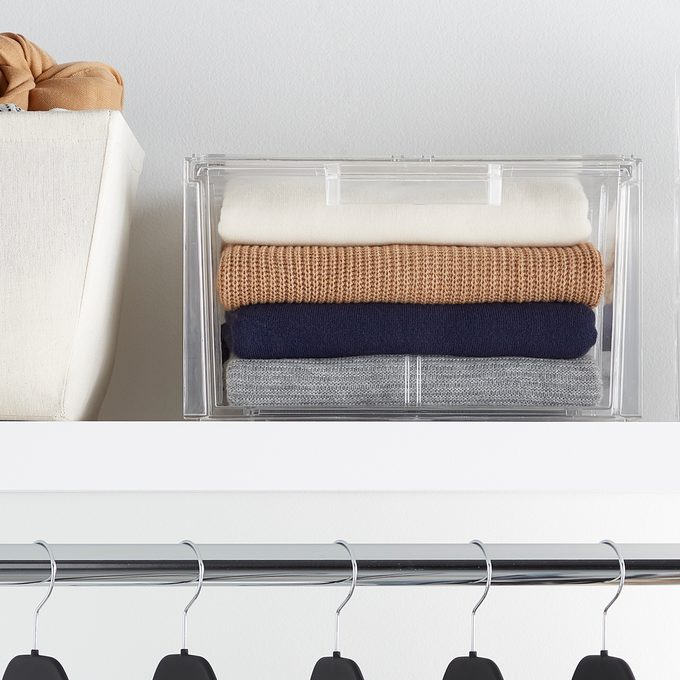 stackable box for the closet